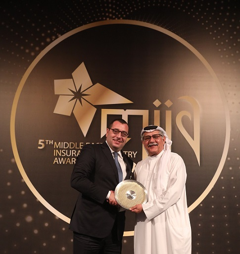Mr. Farid Chedid receving the award at MIIA gala event