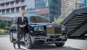 _Torsten Müller-Ötvös, Chief Executive Officer, Rolls-Royce Motor Cars with Rolls-Royce Cullinan