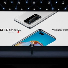 Richard Yu, the CEO of Huawei CBG P40 Series Launch