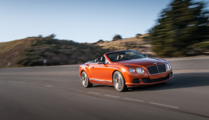 Bentley Continental GT Speed Convertible. February 2013.