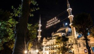 Turkish Airlines Ramadan in Istanbul campaign - Blue Mosque in Ramadan
