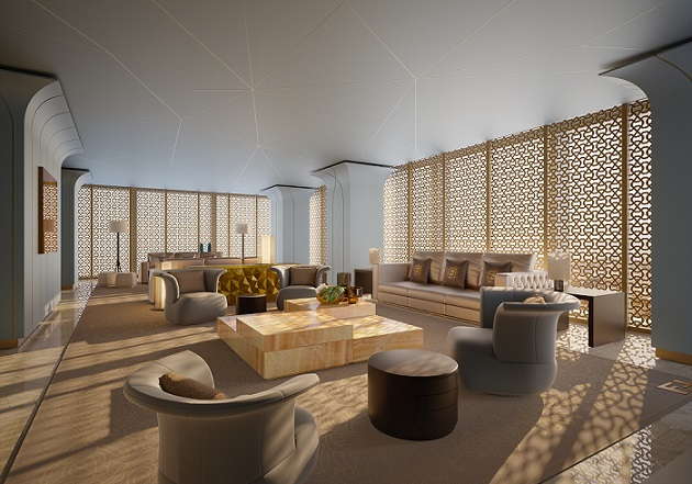Iconic FENDI Casa furniture  at DAMAC Esclusiva in Riyadh