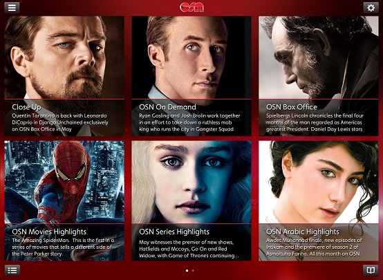 OSN guide app for ipad