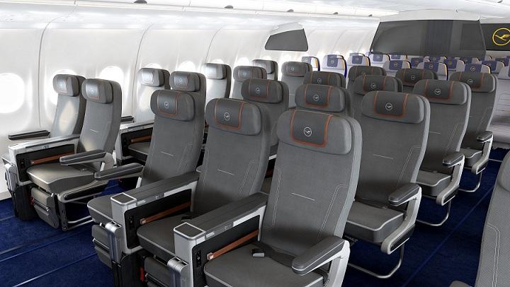 Premium Economy Class A340 Cabin View 1