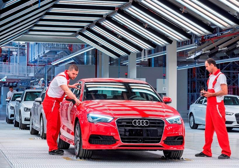 Audi A3 Sedan production in Győr-Hungary