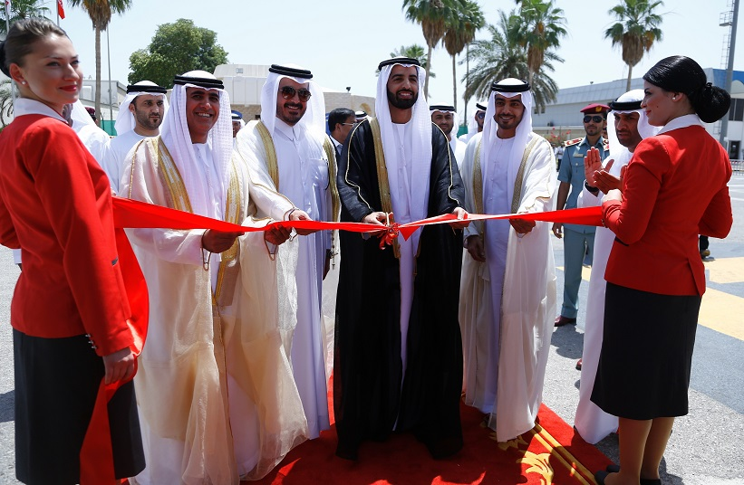His Highness Sheikh Mohammed Bin Saud Al Qasimi inaugurates Air Arabia's...