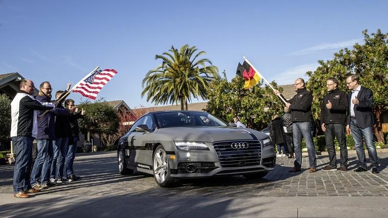 550 Meilen pilotiert vom Silicon Valley nach Las Vegas: Langstrecken-Test im Audi A7 Sportback piloted driving concept