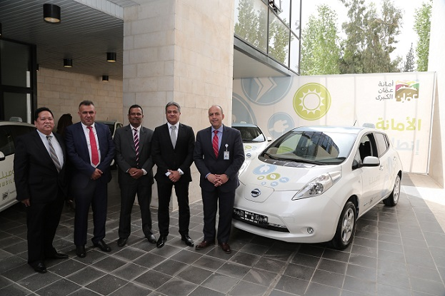 Nissan signs landmark Electric Vehicle deal with Greater Amman Municipality for Eco-friendly Taxis (1)