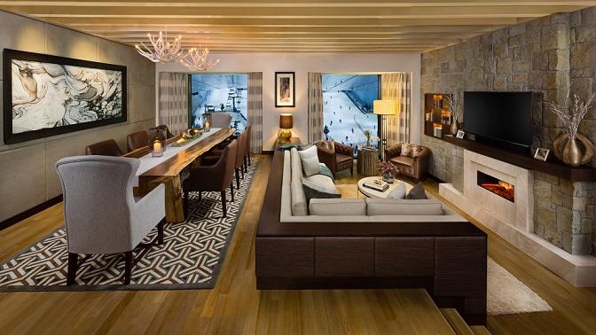 SKI Chalet Living Room 1