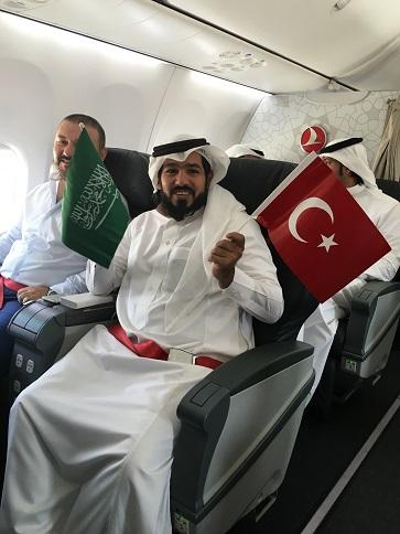 Turkish Airlines inaugurates its first international flight from Riyadh to Ordu-Giresun Airport