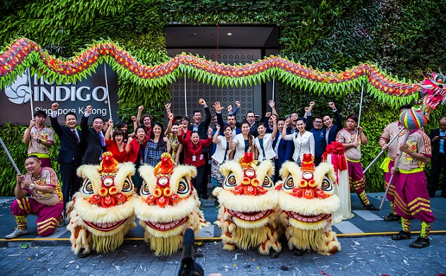 Staff and management team celebrate the grand opening of Hotel Indigo Singapore Katong on 30th June 2016