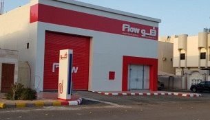 Flow's first independent Pick up outlet in Madinah