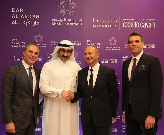 L-R Italian Ambassador in KSA-Dar Al Arkan Chairman-Roberto Cavalli CEO DAAR CEO