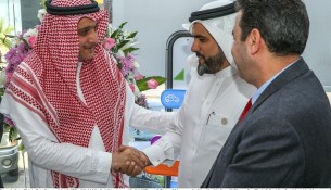 Eng. Yasser Joharji CEO of Nahi Medical Co-Khalid AlGhamdi General Manager Arabian HealthCare Al Olayan Co -Thair Salim VicePresident Healthcare divion AlO
