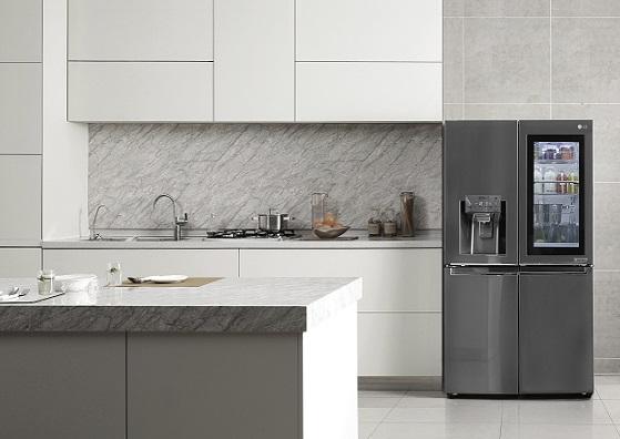 LG InstaView™ refrigerator featuring transparent glass panel