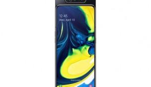 Galaxy A80_Phantom-Black_Front-Camera-Up