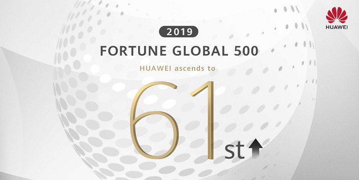 HUAWEI LEAPS 11 SPOTS ON 2019 FORTUNE 500 LIST