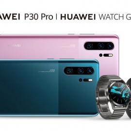 New HUAWEI P30 Pro and HUAWEI WATCH GT 2