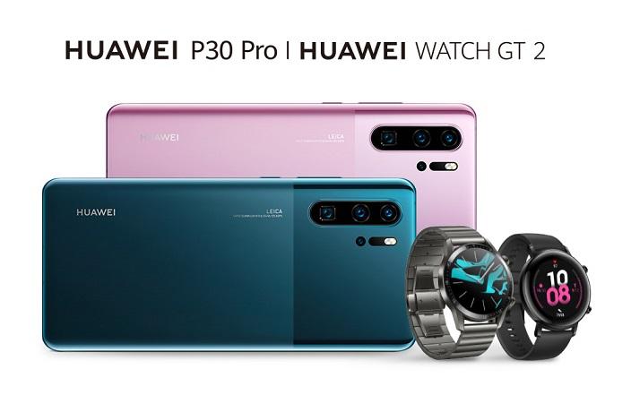 New HUAWEI P30 Pro and HUAWEI WATCH GT 2