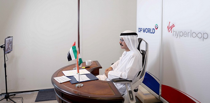 Sultan Ahmed Bin Sulayem at virtual signing ceremony[3]
