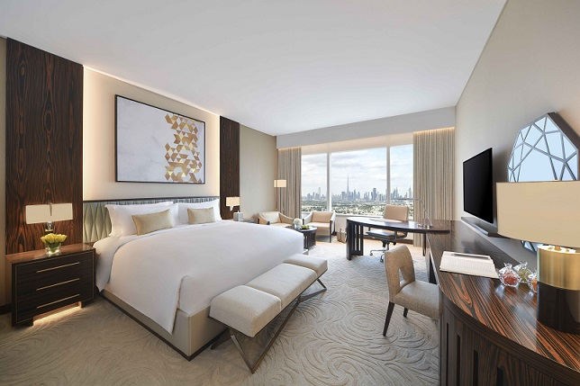 Sofitel Dubai The Obelisk - Deluxe Room - King Bedroom - Skyline View